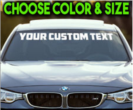 Coos bay custom window stickers